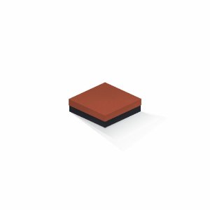 Caixa de presente | Quadrada F Card Scuro Laranja-Preto 12,0x12,0x4,0