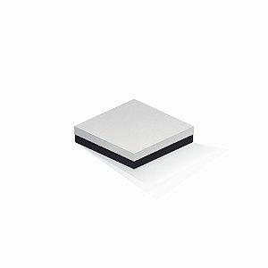 Caixa de presente | Quadrada F Card Branco-Preto 15,5x15,5x4,0