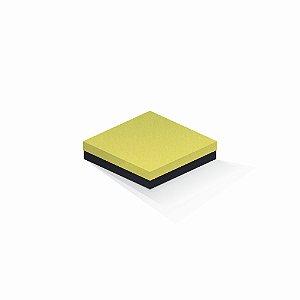 Caixa de presente | Quadrada F Card Canário-Preto 15,5x15,5x4,0