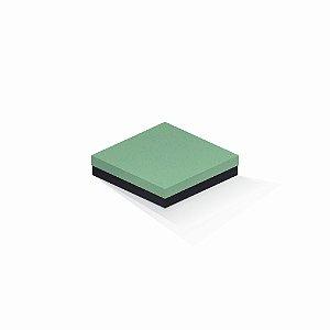 Caixa de presente | Quadrada F Card Verde-Preto 15,5x15,5x4,0