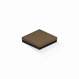 Caixa de presente | Quadrada F Card Scuro Marrom-Preto 15,5x15,5x4,0
