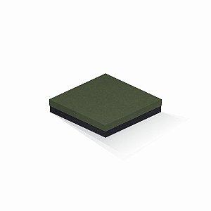 Caixa de presente | Quadrada F Card Scuro Verde-Preto 18,5x18,5x4,0