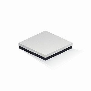 Caixa de presente | Quadrada F Card Branco-Preto 20,5x20,5x4,0