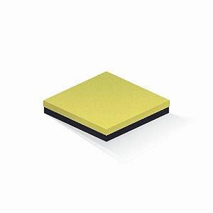 Caixa de presente | Quadrada F Card Canário-Preto 20,5x20,5x4,0