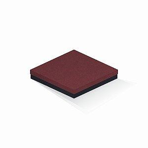 Caixa de presente | Quadrada F Card Scuro Vermelho-Preto 20,5x20,5x4,0