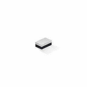 Caixa de presente | Retângulo F Card Branco-Preto 5,0x8,0x3,5