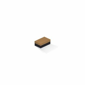 Caixa de presente | Retângulo F Card Ocre-Preto 5,0x8,0x3,5