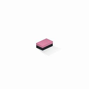 Caixa de presente | Retângulo F Card Rosa-Preto 5,0x8,0x3,5