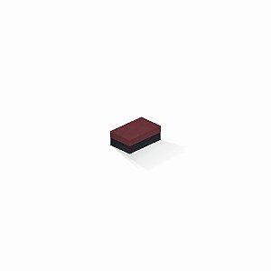 Caixa de presente | Retângulo F Card Scuro Vermelho-Preto 5,0x8,0x3,5