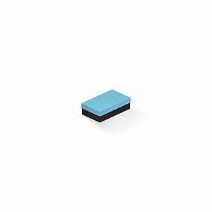 Caixa de presente | Retângulo F Card Azul-Preto 6,0x10,0x3,5