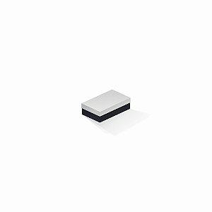 Caixa de presente | Retângulo F Card Branco-Preto 6,0x10,0x3,5