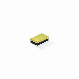 Caixa de presente | Retângulo F Card Canário-Preto 6,0x10,0x3,5