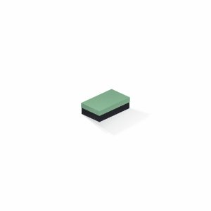 Caixa de presente | Retângulo F Card Verde-Preto 6,0x10,0x3,5