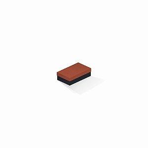 Caixa de presente | Retângulo F Card Scuro Laranja-Preto 6,0x10,0x3,5