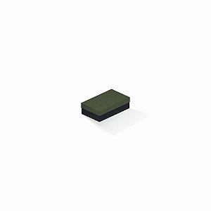 Caixa de presente | Retângulo F Card Scuro Verde-Preto 6,0x10,0x3,5