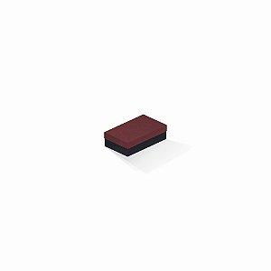 Caixa de presente | Retângulo F Card Scuro Vermelho-Preto 6,0x10,0x3,5