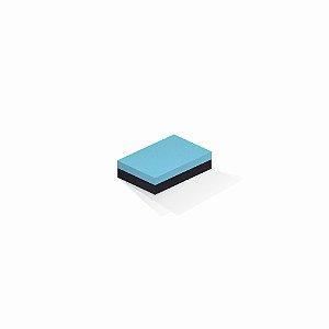Caixa de presente | Retângulo F Card Azul-Preto 8,0x12,0x3,5