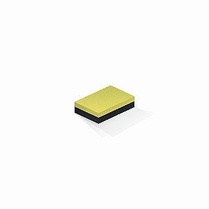 Caixa de presente | Retângulo F Card Canário-Preto 8,0x12,0x3,5