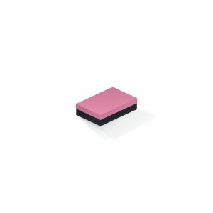 Caixa de presente | Retângulo F Card Rosa-Preto 8,0x12,0x3,5