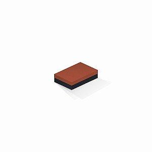 Caixa de presente | Retângulo F Card Scuro Laranja-Preto 8,0x12,0x3,5