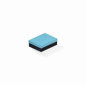 Caixa de presente | Retângulo F Card Azul-Preto 10,0x13,0x3,5