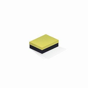 Caixa de presente | Retângulo F Card Canário-Preto 10,0x13,0x3,5