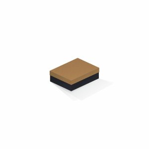 Caixa de presente | Retângulo F Card Ocre-Preto 10,0x13,0x3,5