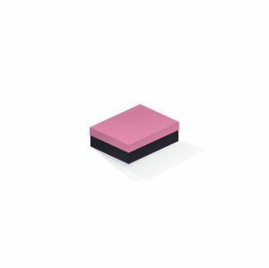 Caixa de presente | Retângulo F Card Rosa-Preto 10,0x13,0x3,5