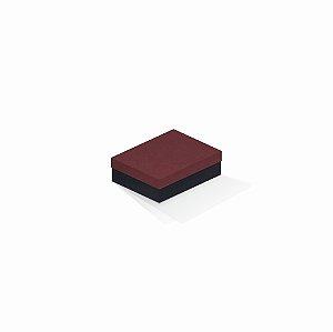 Caixa de presente | Retângulo F Card Scuro Vermelho-Preto 10,0x13,0x3,5