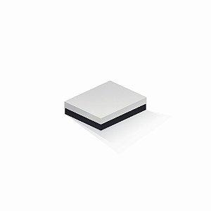 Caixa de presente | Retângulo F Card Branco-Preto 12,0x15,0x4,0