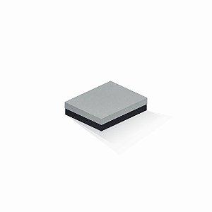 Caixa de presente | Retângulo F Card Cinza-Preto 12,0x15,0x4,0
