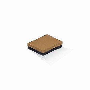 Caixa de presente | Retângulo F Card Ocre-Preto 12,0x15,0x4,0