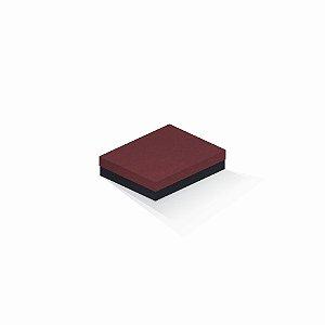 Caixa de presente | Retângulo F Card Scuro Vermelho-Preto 12,0x15,0x4,0