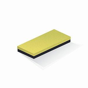 Caixa de presente | Retângulo F Card Canário-Preto 13,0x29,0x4,0