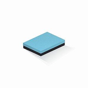 Caixa de presente | Retângulo F Card Azul-Preto 14,0x19,0x4,0
