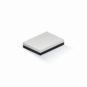 Caixa de presente | Retângulo F Card Branco-Preto 14,0x19,0x4,0