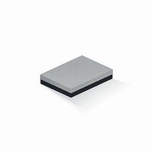 Caixa de presente | Retângulo F Card Cinza-Preto 14,0x19,0x4,0