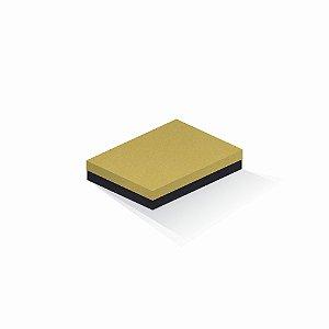 Caixa de presente | Retângulo F Card Ouro-Preto 14,0x19,0x4,0