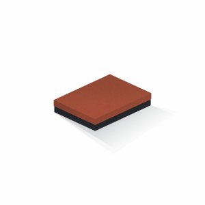 Caixa de presente | Retângulo F Card Scuro Laranja-Preto 14,0x19,0x4,0