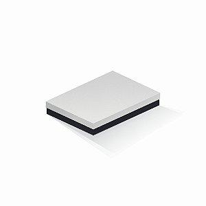 Caixa de presente | Retângulo F Card Branco-Preto 16,0x22,5x4,0