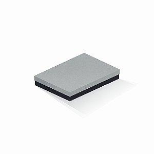 Caixa de presente | Retângulo F Card Cinza-Preto 16,0x22,5x4,0