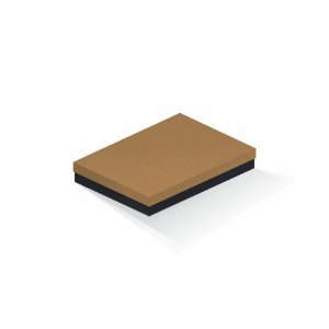 Caixa de presente | Retângulo F Card Ocre-Preto 16,0x22,5x4,0