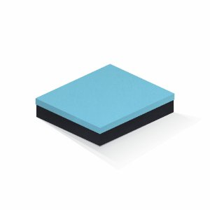 Caixa de presente | Retângulo F Card Azul-Preto 21,5x27,5x5,0