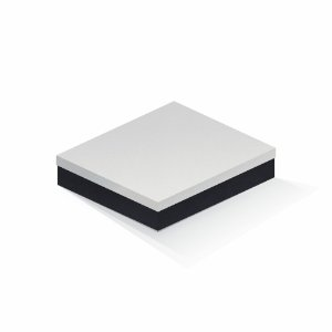 Caixa de presente | Retângulo F Card Branco-Preto 21,5x27,5x5,0