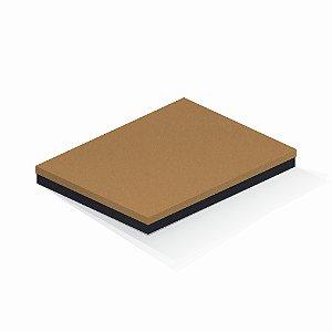Caixa de presente | Retângulo F Card Ocre-Preto 23,5x31,5x3,5