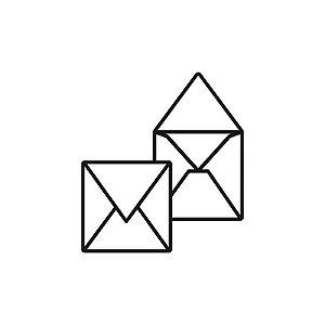 Envelope para convite | Quadrado Aba Bico Markatto Concetto Bianco 10,0x10,0