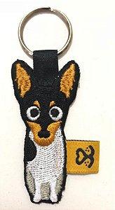 Chaveiro de bordado Fox Paulistinha
