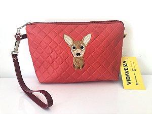 Necessaire Chihuahua Vermelha