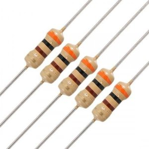 Resistores 1/4W 5% (X5 Unidades)