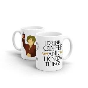 Caneca Cerâmica I Drink Coffee And I Know Things